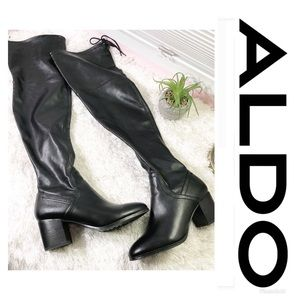 Aldo | Over the Knee Heeled Black Boots Sz 7 🌸